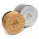 BEARDED PARKER Bartbürste für Professionelle Bartpflege mit hochwertiger Aufbewahrungsbox