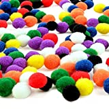 #2: Ziggle 100 Pcs 20mm Assorted Craft Pompoms