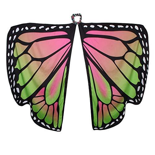 F Fityle Damen Schmetterling Kostüm Faschingkostüm Schmetterlingsflügel Erwachsene Poncho Umhang - Rosa - Schmetterlingsflügel Kostüm Für Erwachsene