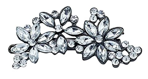 SaySure - Flower Hairpin Hair Clip Full Crystal Rhinestone