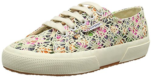 Superga 2750 Laceflowersw, Sneakers basses mixte adulte Multicolour (multicolour Beige)