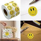 Gaddrt 1 Rolle 100 Stück natürliche Kraft Smile Sticker Anerkennungsetiketten Selbstklebende Aufkleber