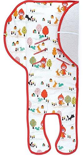 Preisvergleich Produktbild Priebes Sitzeinlage Lea für Babyschalen mit Easy-out Gurtsystem | kühlt durch Luftzirkulation | verringert Schwitzen Ihres Kindes | ideale Alternative zum Sommerbezug | atmungsaktiv & waschbar, Design:rotkäpchen