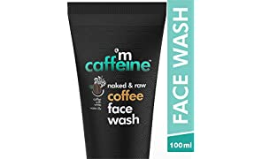 MCaffeine Naked & Raw Coffee Face Wash, 100 ml | White Water Lily | Deep Cleanser | Oily/Normal Skin | Paraben & SLS Free