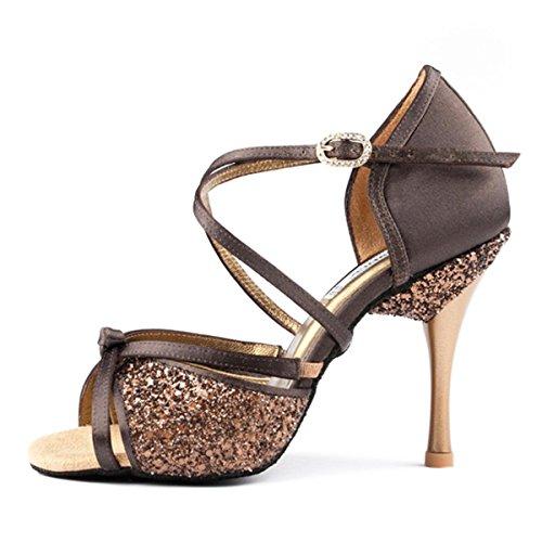 PortDance Mujeres Zapatos Baile PD801 Pro - Satén/Glitter