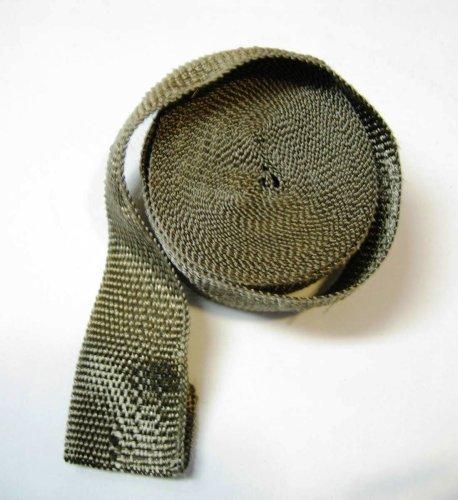 Preisvergleich Produktbild Titan basalt Auspuff Header Pipe Wrap Tape 2x 50ft Lava Faser, mit HDM Performance Teilen