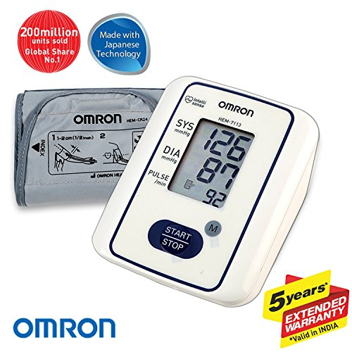 Omron HEM 7113 Fully Automatic Digital Blood Pressure Monitor With Intellisense Technology For Most Accurate Measurement