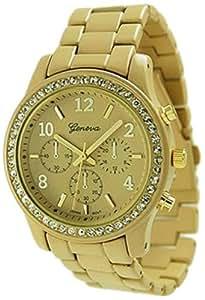 Geneva Platinum 9073.Gold Femme Montre