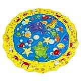 Juego de Agua al Aire Libre Actividad para niños pequeños Piscina para bebés Piscina para el bebé Estera de rociado Estera de Juego Regadera para niños Juguete fghfhfgjdfj