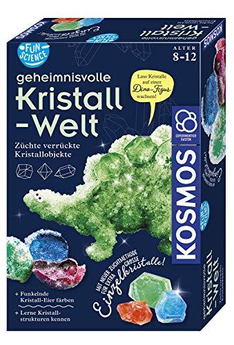 KOSMOS 654153 Fun Science - Geheimnisvolle Kristallwelt. Verrückte Kristallobjekte selbst züchten. KOSMOS Experimentierset für Einsteiger.