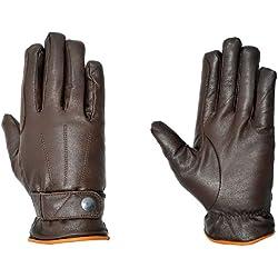 Riders Trend 10034116-CHOLTB-L - Guantes de equitación de invierno unisex, color chocolate / marrón claro, talla L