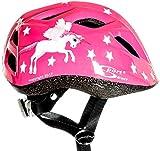 Sport Direct Kinder-Fahrradhelm fliegendes Einhorn Mädchen rosa Einhorn 48 - 52cm