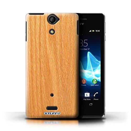 KOBALT® Hülle Case für Sony Xperia V/LT25i | Treibholz Entwurf | Holz/Holzmaserung Muster Kollektion Kiefer
