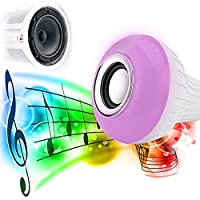 Tiptiper Smart LED Bulb Speaker,Wireless Bluetooth 4.0 Speaker Music E27 Light Bulb for Party Decoration,iPhone Android