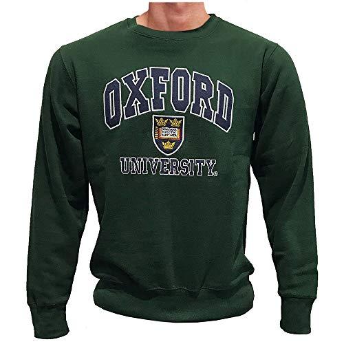 Oxford University Offizielles Lizenzprodukt, super Qualität, Besticktes Souvenir-Geschenk, Unisex, Herren und Damen, weiches Sweatshirt Gr. S, flaschengrün
