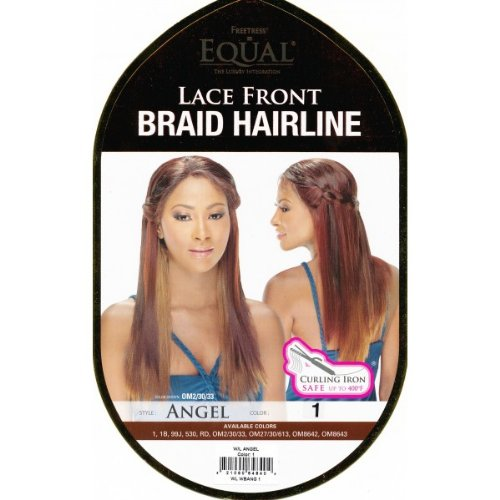 FreeTress Equal Futura Synthetic Lace Front Wig - BRAID HAIRLINE ANGEL (Waterfall Style) (OM8642) by Freetress