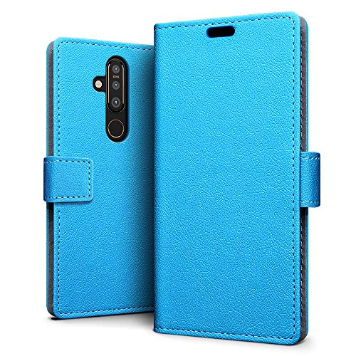 SLEO Hülle für Nokia 6.2 Hülle,PU lederhülle [Vollständigen Schutz] [Kreditkartenfach] Flip Brieftasche Schutzhülle im Bookstyle für Nokia 6.2- Blau