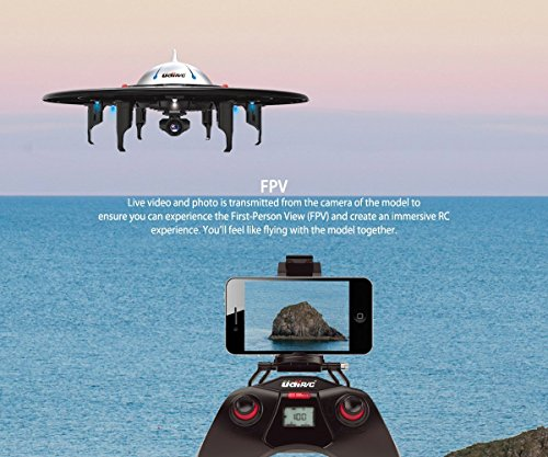UDI U845 UFO WiFi FPV Drone with HD Camera Entry Level Headless Mode Quadcopter Live Video