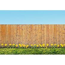Cassisy 3x2m Vinilo Primavera Telon de Fondo Al Aire Libre Jardín Valla De Madera Flores Amarillas