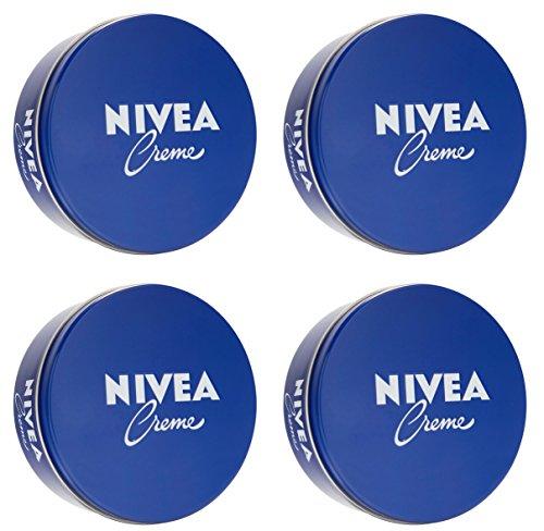 NIVEA Creme, 250 ml Dose, Hautpflege für den ganzen Körper - [Pack 4]