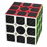 Puzzle Cube 3x3x3 Coolzon® Magico Cubo con Adesivo in Fibra di Carbonio Nuovo Velocità