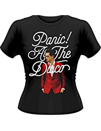Plastic Head Official Panic! At The Disco - Brendon Urie - Womens Black T Shirt