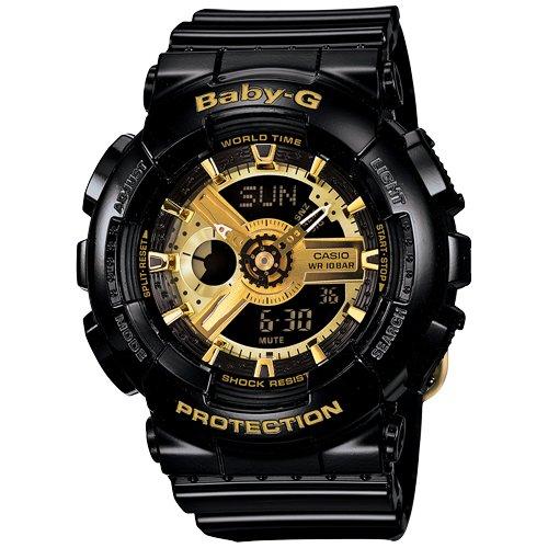 Casio Baby-G Women's Gold Ana-Digi Dial Resin Band Watch - BA-110-1A