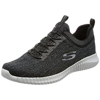 Skechers Herren Dynamight 2.0-Eye to Eye-52642 Slip On Sneaker, Schwarz (Black/Grey), 45 EU