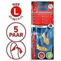 THE HEAT COMPANY Sohlenwärmer SELBSTKLEBEND 8 Stunden Wärmedauer Wärmesohle Fußwärmer Schuhheizung Fußheizung, Large, Grösse 41-46; 5 bis 30 Paar