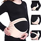 Viedouce Bauchband Schwangerschaft Stützgürtel, Bauchbänder für Schwangere Gürtel, Schwangerschaftsgurt Bauchstütze Bauchgurt Schwangerschaftsbandage Umstandsgürtel,3 in 1 Atmungsaktive Während