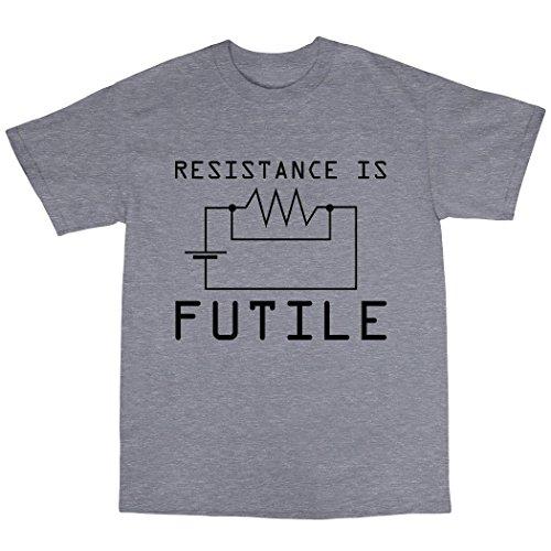 Resitance Is Futile T-Shirt 100% Baumwolle Grau