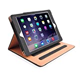 "MOFRED® Black & Tan iPad Air 2 (Launched 2014) Leather Case-MOFRED®- Executive Multi Function Leather Standby Case for Apple iPad Air 2 with Built-in magnet for Sleep & Awake Feature -- Independently Voted by ""The Daily Telegraph"" as #1 iPad Air 2 Case! Bild 2"