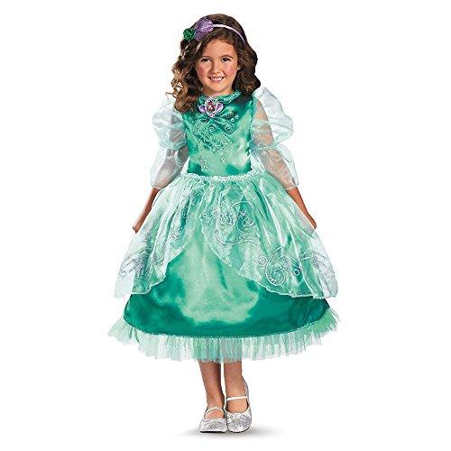 Disfraz Disney de la Sirenita Ariel Sparkle Deluxe disfraz de niñas
