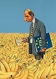 Postkarte A6 • 1489 ''EU-Bananenkrümmungs-prüfer bei der Arbeit'' von Inkognito • Künstler: Gerhard Haderer • Satire
