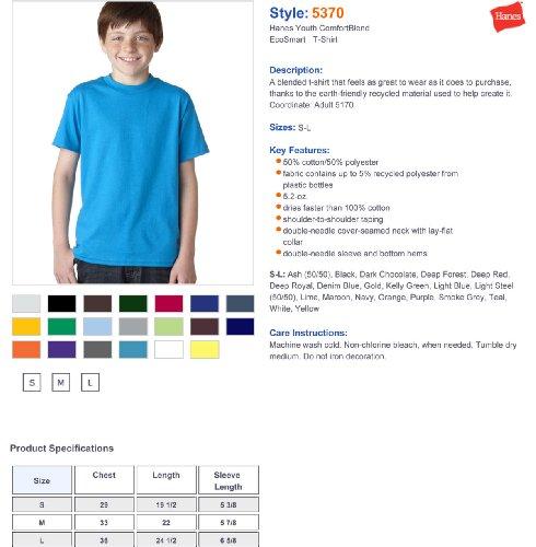 Hanes Comfort Blend Cotton Poly T-Shirt Purple
