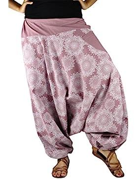 Pantalones de Aladino de entrepierna floja con una Mandala dibujada a mano como ropa alternativa por virblatt...