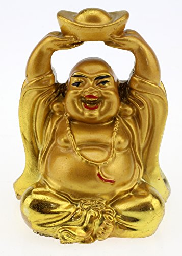 6 Happy Buddha Glücksbringer Figuren Glücks-Buddha
