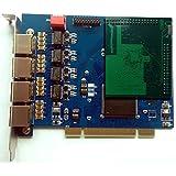 TE405P avec Anti-Echo - 4xE1 Carte Interface PCI pour lignes numériques ISDN PRI E1/T1