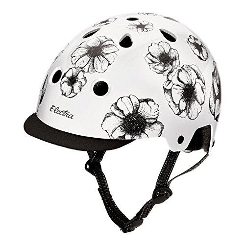 Electra Bicycle Electra Fahrrad Helm Solid Attitude Fashion Serie Magnetverschluss Stylisch, EHelm, Farbe Flowers, Größe M