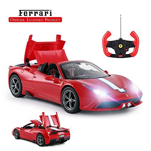 RASTAR Ferrari Remote Control Car, 1/14 Ferrari 458 Special A Red Toy Car - Convertible, Auto Open/Close