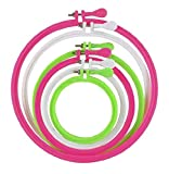 #7: KESHAV JEE Crafts Plastic Embroidery Hoop Ring Frame (5 Pieces)