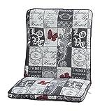 Auflage Kiruna für Stapelsessel, 100x50x9 cm 75% Baumwolle, 25% Polyester