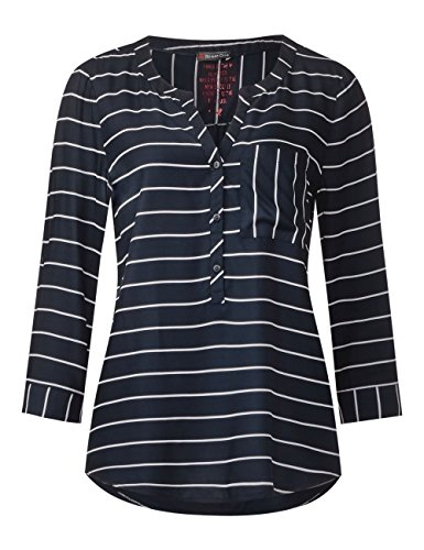 Street One Damen Bluse Mehrfarbig (Night Blue 20109)