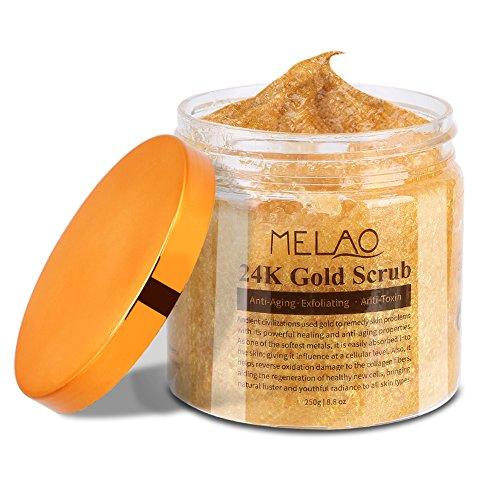 MELAO Pure 24K Gold Anti Falten Pure 24K Gold Körper Peeling Reduziert das Aussehen von...