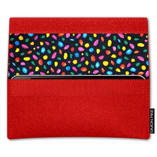 SIMON PIKE Apple iPhone 7 / 6 / 6S Filztasche Case Hülle 'NewYork' in gruen 7, passgenau maßgefertigte Filz Schutzhülle aus echtem Natur Wollfilz, dünne Tasche im schlanken Slim Fit Design für das iPh rot Filz (Muster 13)