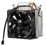CPU Cooler con Doppio Tubo di Dissipatore di 6mm , Raffreddamento fino a 30%, 105 Watt, Ventola Amovibile con Cavo Ignifugo, Supporta Multi-prese, Silenzioso per Intel/AMD (F2)