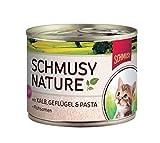 Schmusy   Nature Kitten mit Kalb, Geflügel & Pasta   12 x 190 g