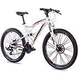 CHRISSON 26 Zoll Mountainbike Fully - Emoter Weiss - Vollfederung Mountain Bike...