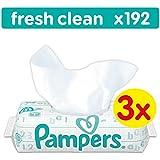 Pampers Fresh Clean Feuchttücher, 192 Tücher, 3er Pack (3 x 64 Stück)