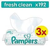 Pampers Fresh Clean Feuchttücher, 3er Pack (3 x 3 x 64 Stück)